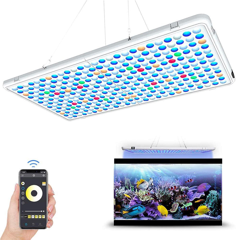 Amazon Com Relassy Panel De Luz Led Para Acuario Control De Aplicaciones Espectro Completo Panel De Luz Led De Arrecife De Coral Para Acuario De Agua Salada Tanque De Peces De Agua Dulce