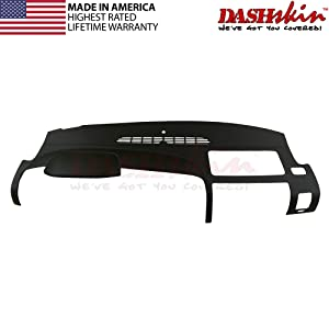 DashSkin Molded Dash Cover Compatible with 07-13 Silverado LS/LT & Sierra SL/SLE in Ebony (USA Made)