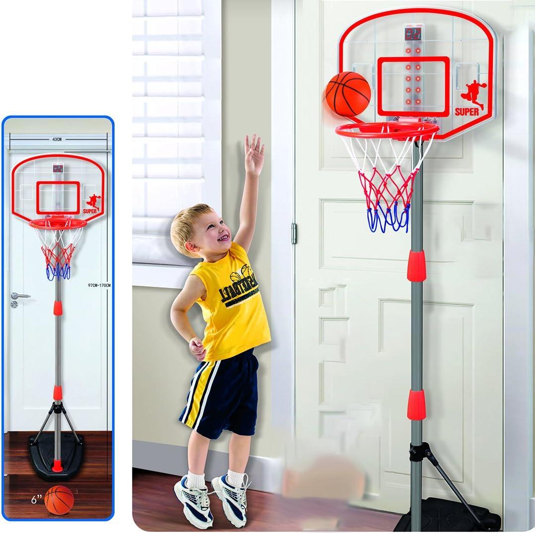 OSoMax 97-170cm R/églable Soutien de Basket avec Dispositif de Notation Support de Support de But Jouet de Sport pour Enfants
