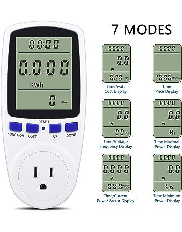 Zerone Voltage Meter Display LCD Digital Current Voltage Battery Capacity Tester Power Factor Multimeter Backlit Universal Voltage Meter Voltmeter Monitor