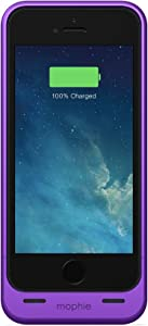 mophie Extended Battery Case for iPhone 5/5S - Retail Packaging - Metallic Purple (Discontinued by Manufacturer)