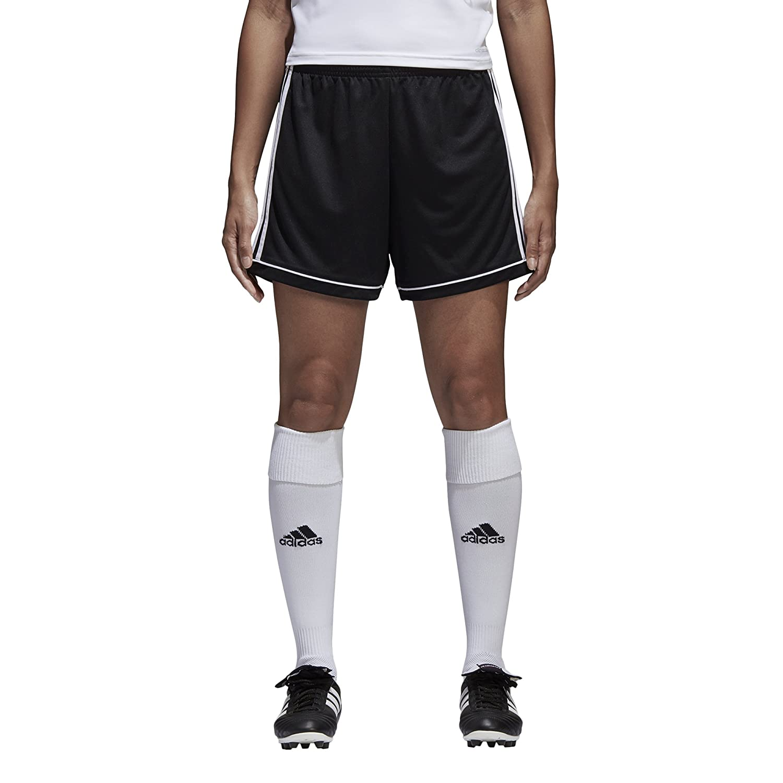 AdidasレディースサッカーSquadra 17 Shorts B01HE3BJDC Small|ブラック/ホワイト ブラック/ホワイト Small
