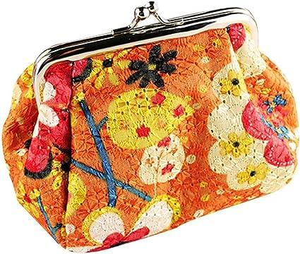 Coin Purse Poppy Flowers Wallet Buckle Clutch Handbag For Women Girls Gift