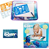 DISNEY FINDING DORY WATER DOODLE MAT - AQUA DRAWING - DRAWING WITH A PEN FILLED WITH WATER - SAFE NO MESS FUN COLOURING - INCLUDES 3 X SHEETS OF STENCILS AND 1 X WATER PEN - COLOURING FUN by Disney