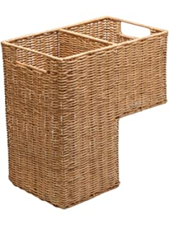 KOUBOO Wicker Step Basket, Natural