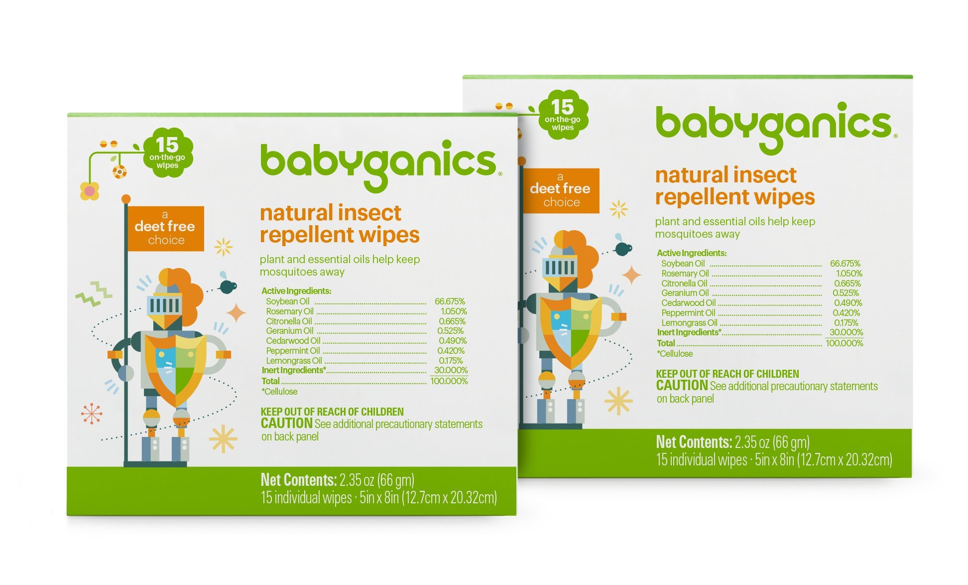 Babyganics Insect Wipes, 30 Count