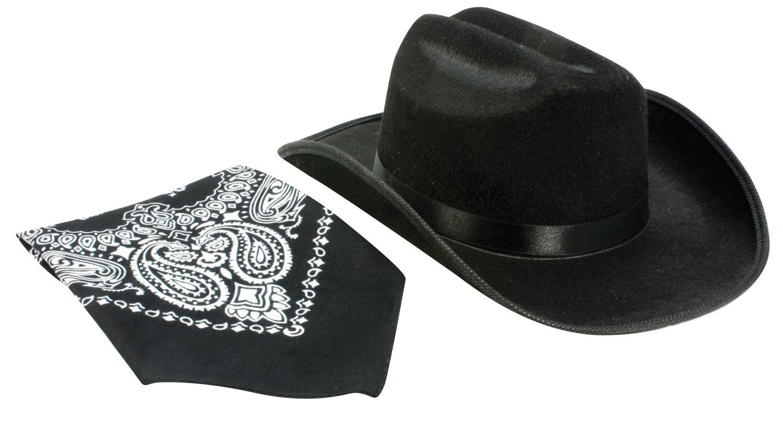 Aeromax Junior Cowboy Hat with Bandanna, Black by Aeromax