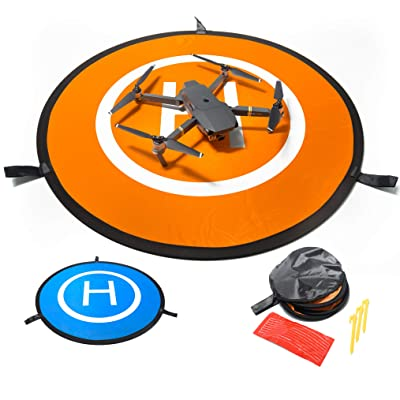 IbD-Tech Drone Landing Pad, 30'' (75cm), Waterproof, Universal, Fast-Folding, Double Sided, for RC Drones, Helicopters, DJI Spark, Mavic Pro, Phantom 2/3/4 Pro, Inspire 2/1, 3DR Solo and Others: Toys & Games