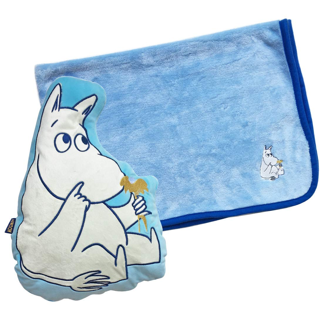 Small Planet Moomin Marshmallow Series Blanket-in Cushion Flowers MMAP3153
