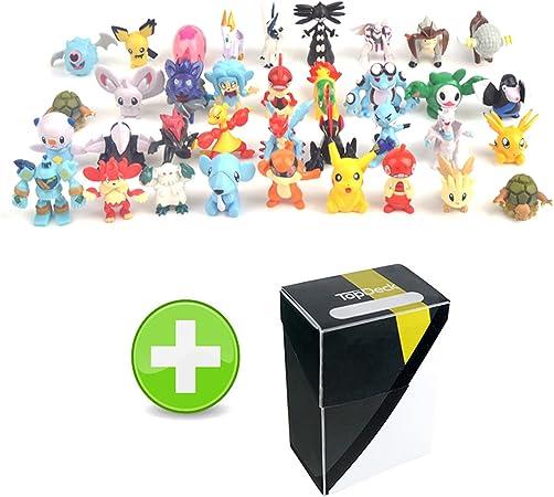 24 Pokemon figuras Mini decoración para tarta para con caja de almacenamiento: Amazon.es: Hogar