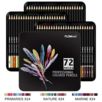 FLOWood Lapices de Colores Profesionales,Estuche de Lapices ...