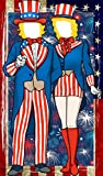 Patriotic Fourth of July Uncle Sam Photo Door Banner Backdrop Props- 4th of July Party Favors Supplies Decorations