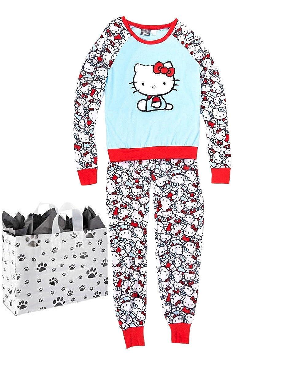 Hello Kitty Junior Womens' Pajama Set & Bag - 2 Piece Gift Set