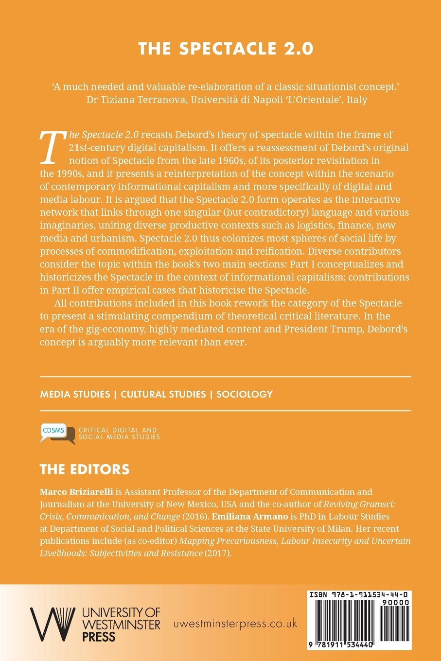 The Spectacle 2.0: Reading Debord in the Context of Digital ...