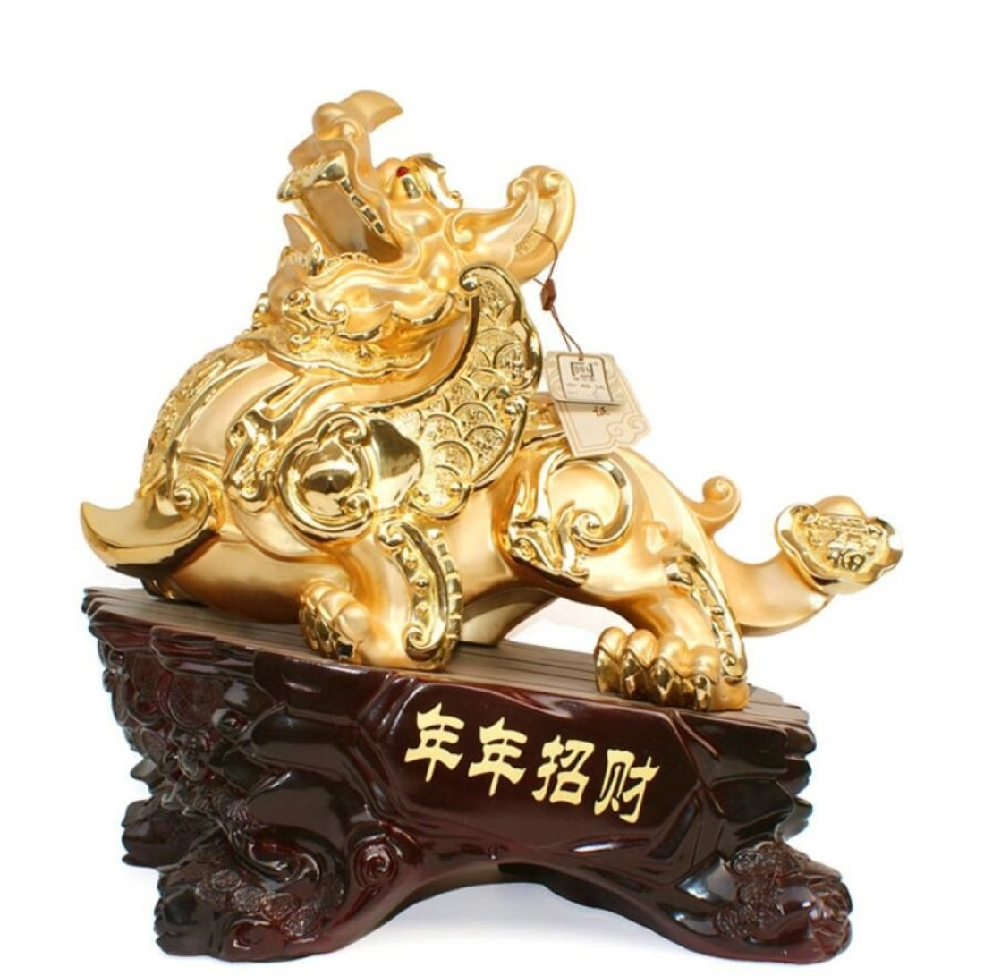 GL&G Lucky Decoration large Living room Collectible Figurines Opening gift Send customers office Tabletop Scenes Ornaments Sculptures Statues,A,633157cm by GAOLIGUO