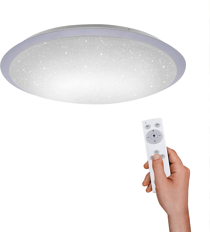 Dimmbare LED Deckenlampe mit Farbwechsel Fernbedienung 30x120 cm sehr flach