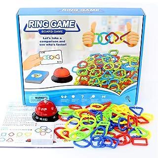 ZMH Single Multiplayer Kids Gioco da Tavolo, educazione della Prima Infanzia per i Bambini Giocattoli con Le Carte Ring Bell Party età Gioco per 3 + Anni