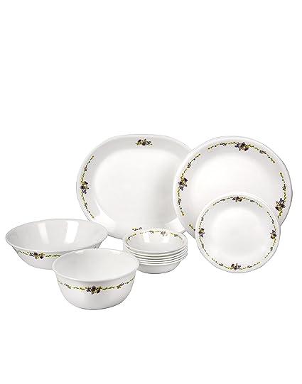 Corelle Romantic Floral Glass Dinnerware Set 21-Pieces Multicolor (21-RF  sc 1 st  Amazon.in & Buy Corelle Romantic Floral Glass Dinnerware Set 21-Pieces ...