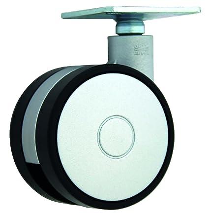HSI Diseño de Ruedas para muebles (con placa de plástico, 40 mm, 47