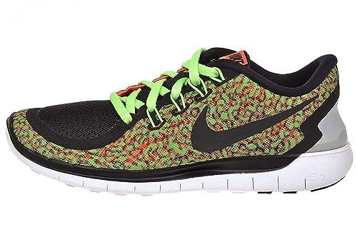 yksityiskohtaisesti parhaat tarjoukset uskomaton valinta Nike Women's Free 5.0 Print Running Shoe Voltage Green/Hyper  Orange/White/Black Size 6.5 M US