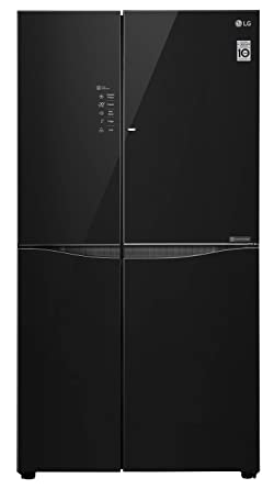 LG 679 L Door-in-Door Inverter linear Side-by-Side Refrigerator (GC-M247UGBM, Black Glass, LG ThinQ)