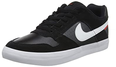buy popular 79f18 6fa4f Nike Unisex's SB Delta Force Vulc Blk/Wht-Hbnro Red Skateboarding Shoes-10