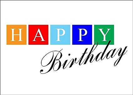 Tarjetas de felicitación de cumpleaños - cumpleaños bloques ...