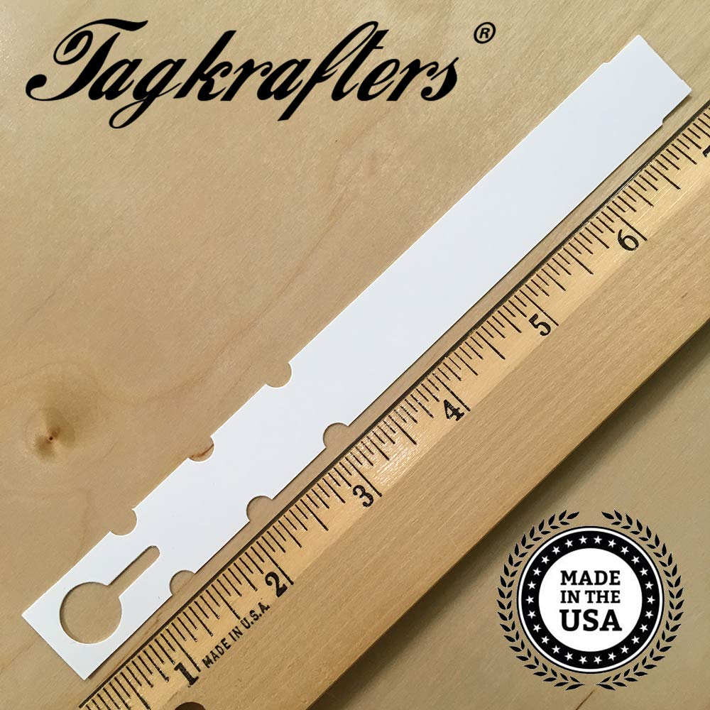 Wrap Around Thermal Plastic Nursery Garden Tree Labels & Plant Tags 7'' x 3/4'' White (1,000 pcs) by Tagkrafters