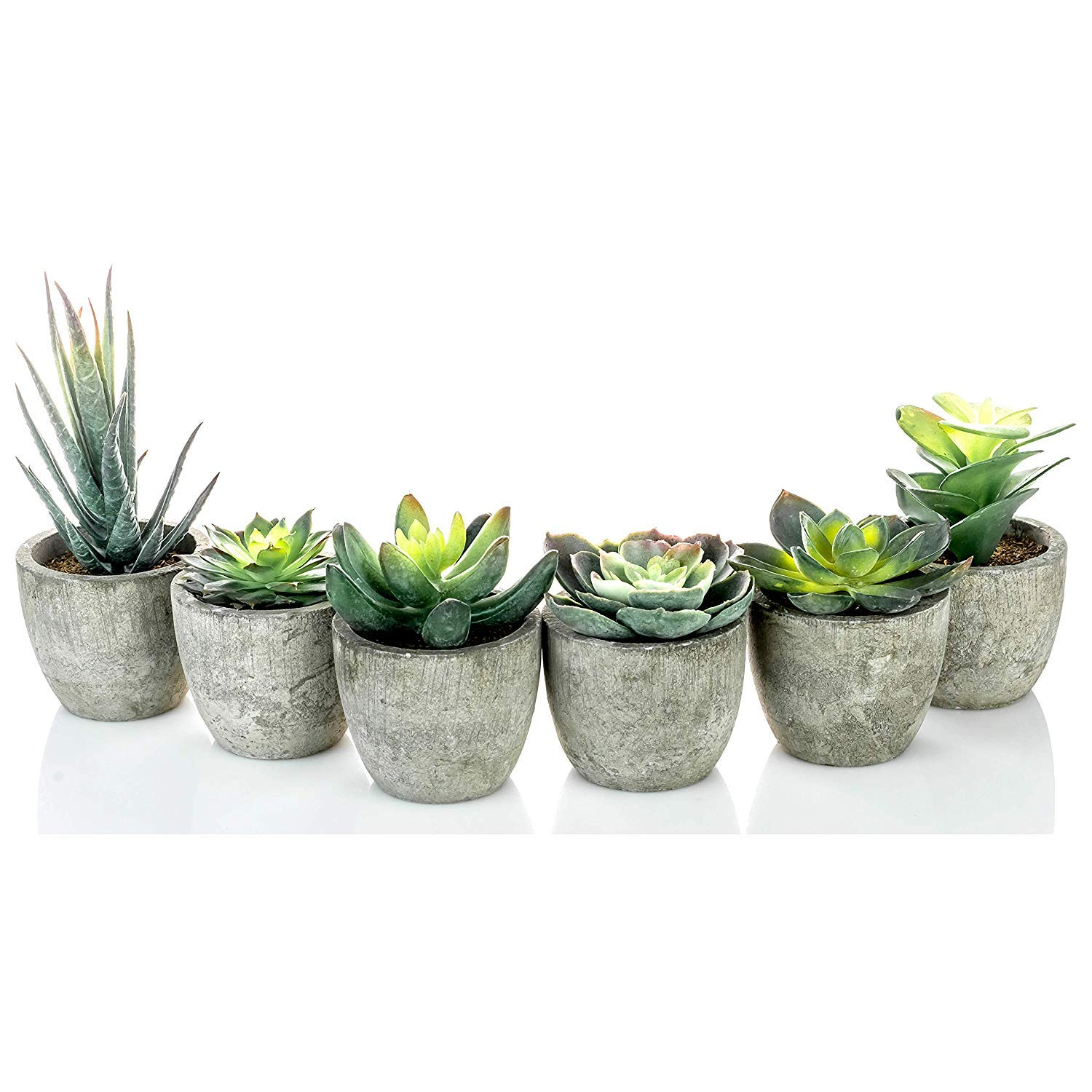 6 Pots Small Artificial Succulent Plants Mini Fake Faux Suculentas Pot For Shelf Kitchen Counter Office Decor Tiny Miniature Desk Plant Succulents Decoration Accessories Potted Plastic Cactus Aloe