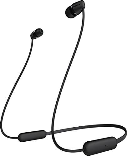 Sony WI-C200 Wireless in-Ear Headset Headphones with mic for Phone Call, Black WIC200 B