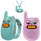 QNIGLO Rechargeable Kids Walkie Talkies, 22 Channel FRS Long Range Walkie Talkies for Kids Toys Gift, Adults Outdoor Camping,