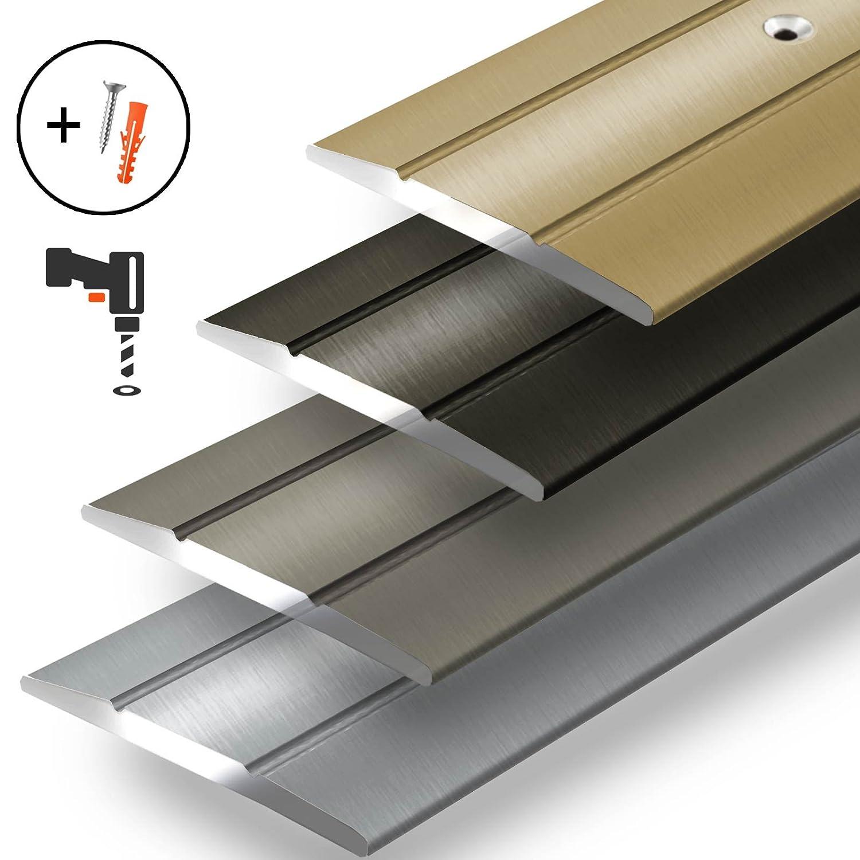 eloxiert Gold 100 cm C Form Breite 36 mm gelochte Abdeckleiste zum Schrauben Alu /Übergangsprofil Firm