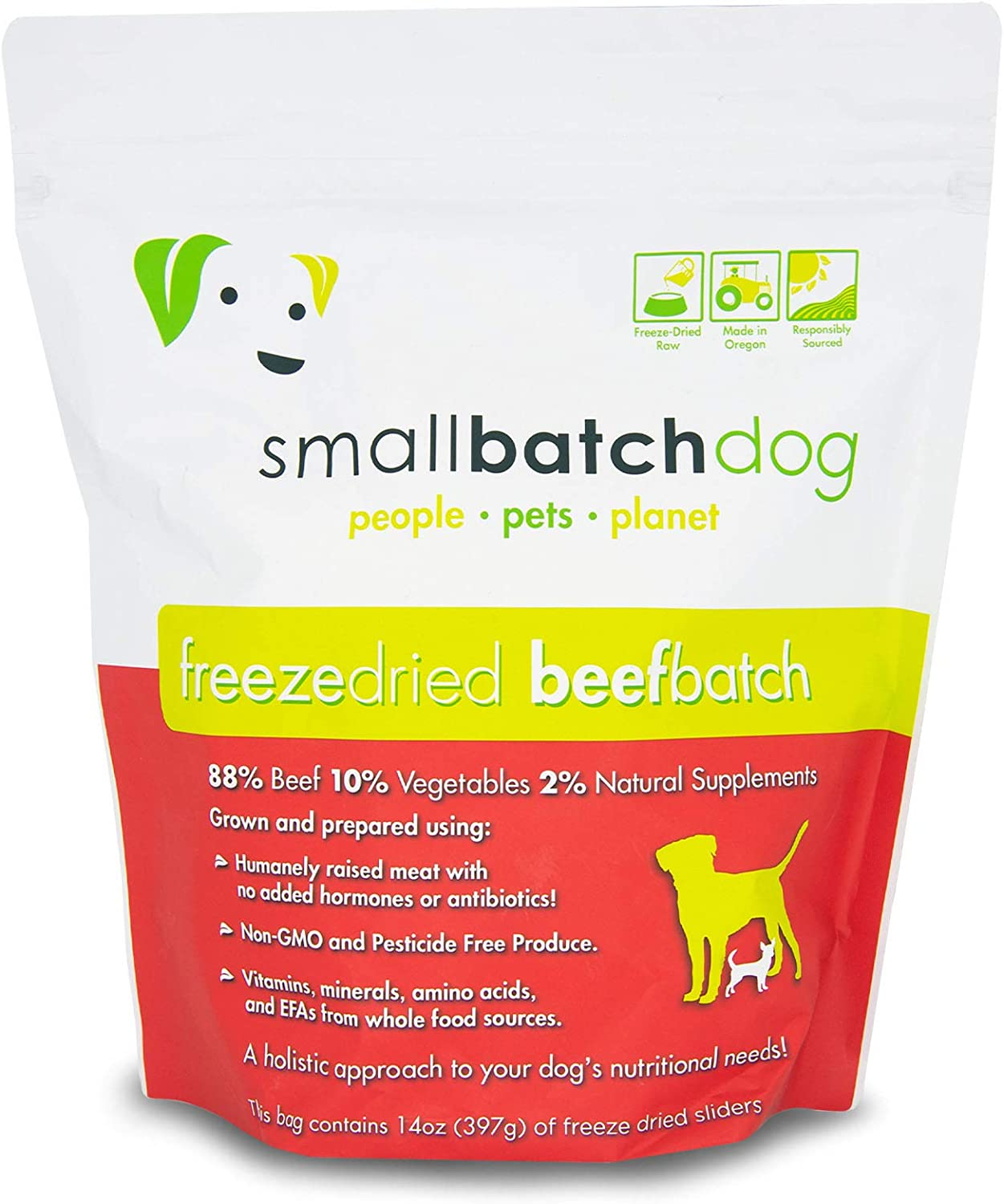 Small Batch Pets, Raw Freeze Dried Beef Sliders, 14 Ounce