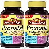 Nature Made Prenatal + DHA 200 mg, 90 Softgels (2 Bottles)