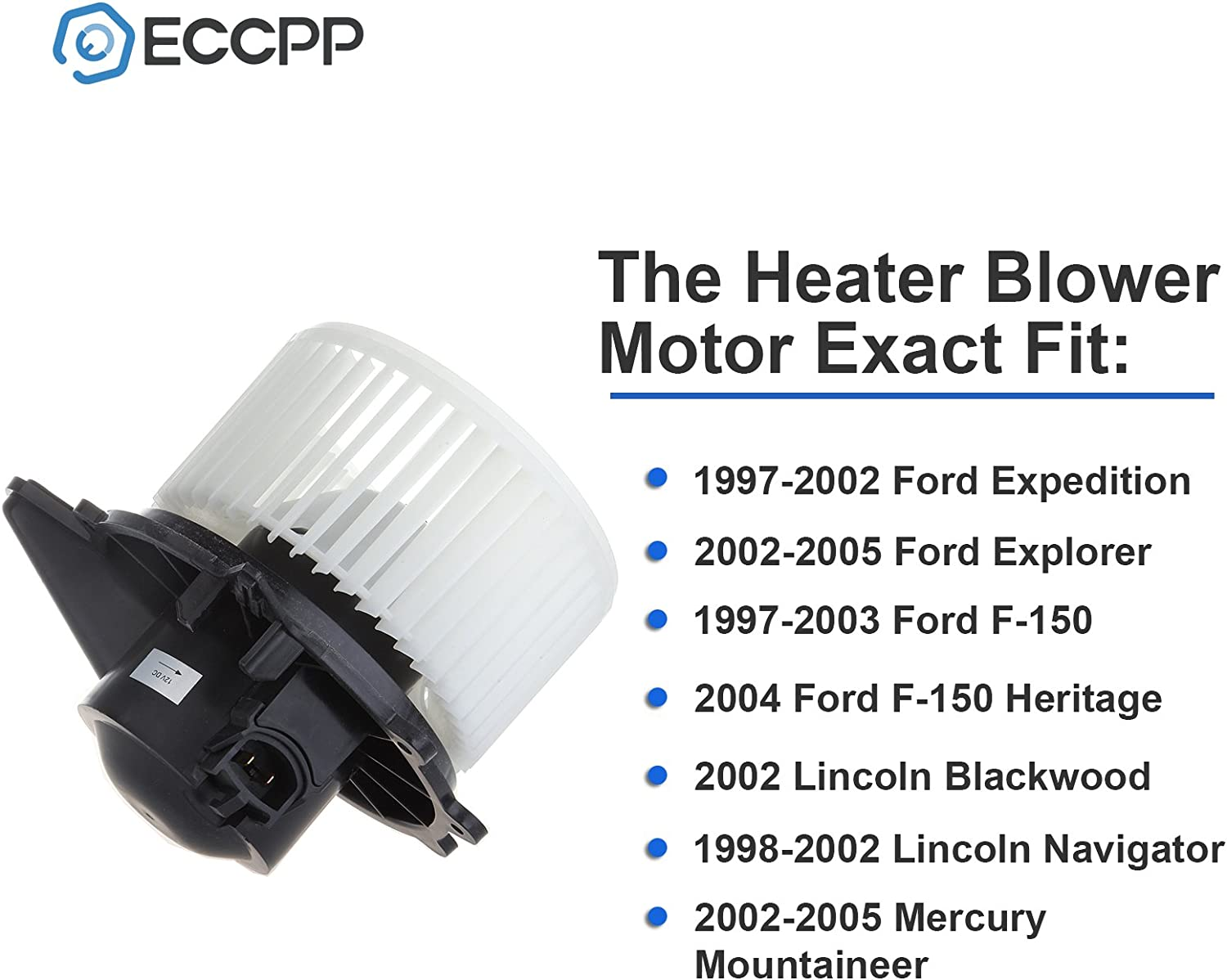 AUTEX HVAC Blower Motor Assembly 700027 Replacement for Lincoln ...