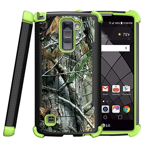 detailed look f8bce b1b31 MINITURTLE Case Compatible w/ LG Stylus 2 Plus Case, LG Stylo 2 Plus Cover  [Shockwave Armor] Green Silicone Slim Fitted Heavy Duty Stand Defender Case  ...