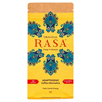 Original Rasa Herbal Coffee Alternative with Ashwagandha, Chaga + Reishi  for All-Day Energy + Focus -