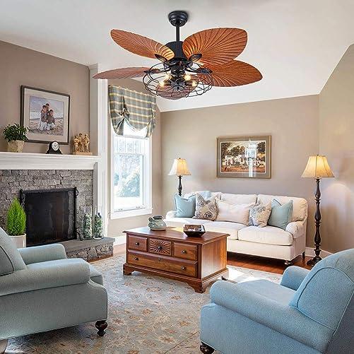 OUKANING Palm Island Bali Breeze Ceiling Fan - a good cheap modern ceiling fan