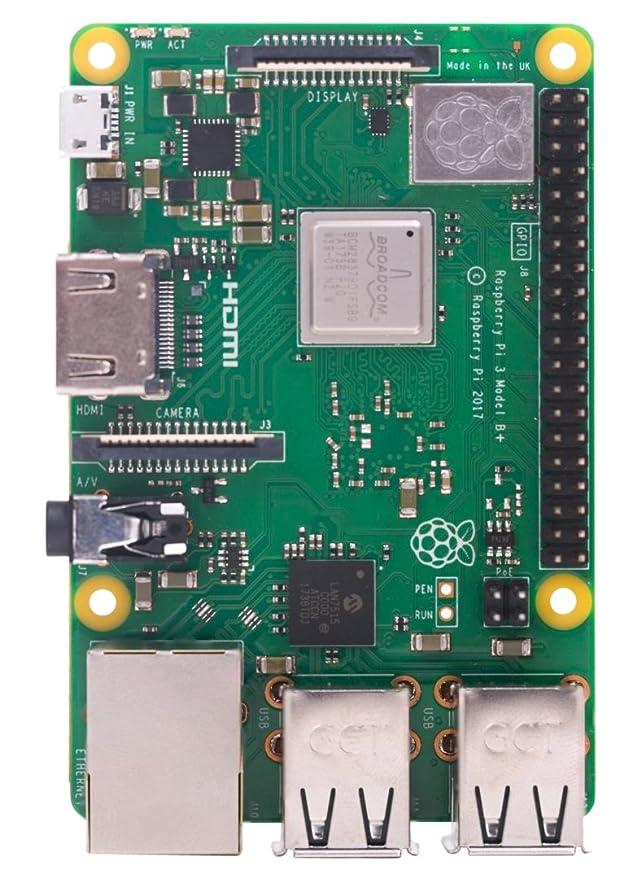Raspberry PI 3 Model B+ - Placa de Base + SanDisk Ultra - Tarjeta de Memoria microSDXC de 128 GB con Adaptador SD, Velocidad de Lectura hasta 100 ...