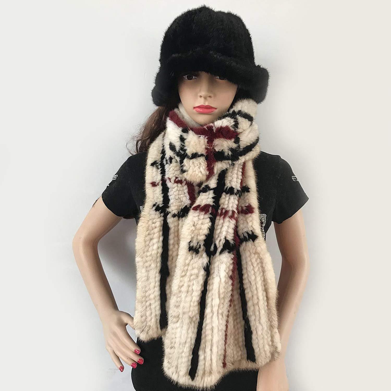 Mink Fur Shawl natural Real Mink Fur Scarf Winter Mink Scarf Hand Knitted Mink Scarf,Color8