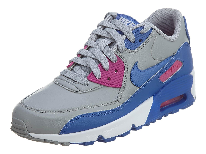 Nike Mládí Air Max Leather Trainers Wolf Šedá/Comet Modrý fire růžová Různé styly F68281