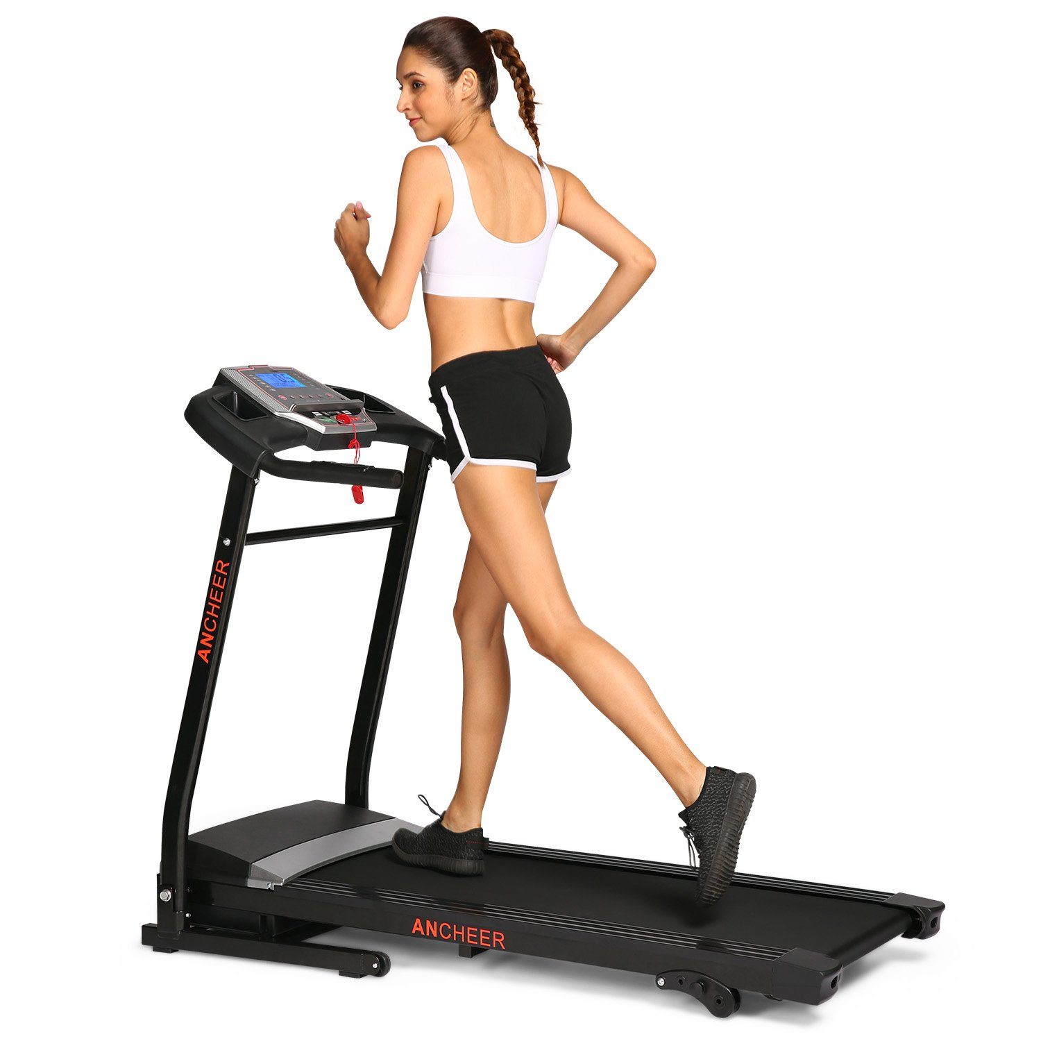 Simpfree Folding Treadmill, Electric Motorized Treadmill Machine with Incline for Home Office Exercise Black.