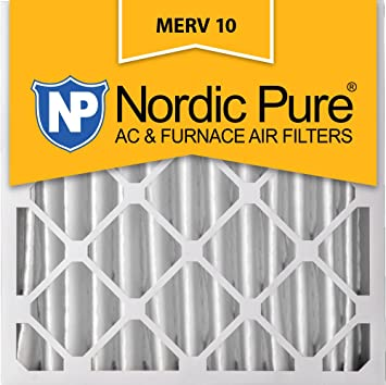 .com: nordic pure 20x20x4 (3-5/8 actual depth) merv 10 pleated ...