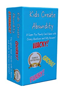 Kids Create Absurdity Family Card Game for Kids with Funny Questions and Hilarious Answers Fun for Kids, Adults, Teens and Tweens Family Travel Card Game for Kids