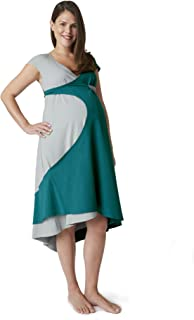 product image for Pretty Pushers 2-tone Cap Sleeve Transition Gown (Maternity - Labor/Delivery - Nursing)