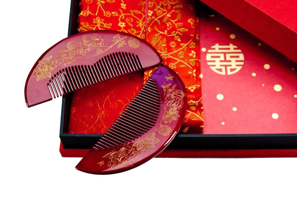Tan's Gift Set-Wedding Wood Comb Tie the Knot