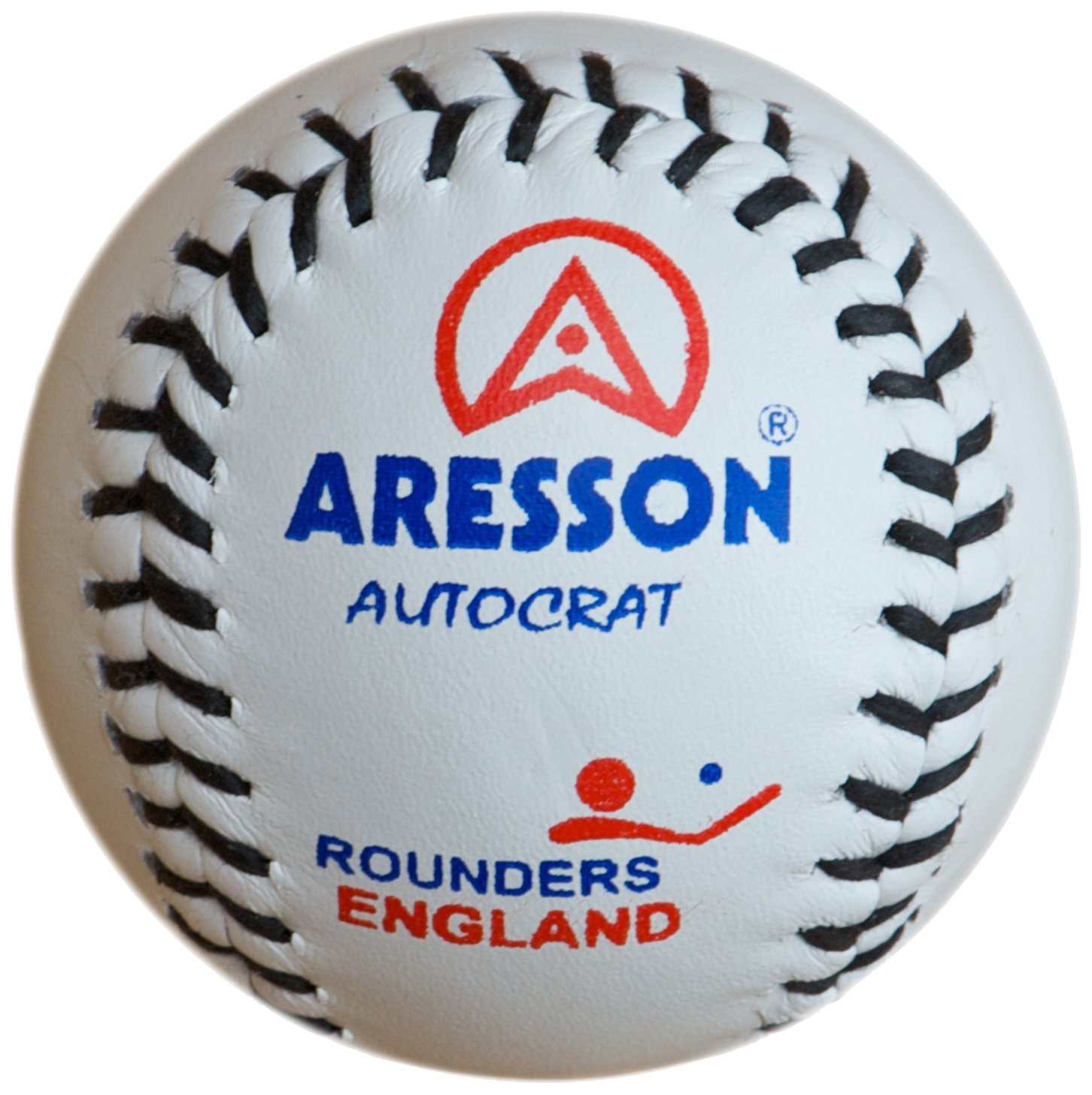Aresson Autocrat Leather Rounders Ball White 19.5cm SR360