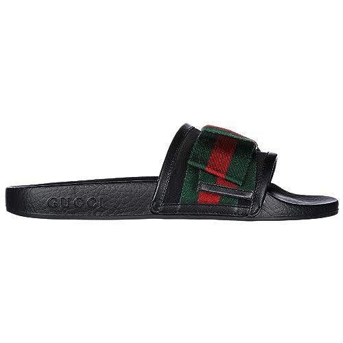 miglior servizio 7611d b99bb Gucci Ciabatte Donna Nero: Amazon.it: Scarpe e borse
