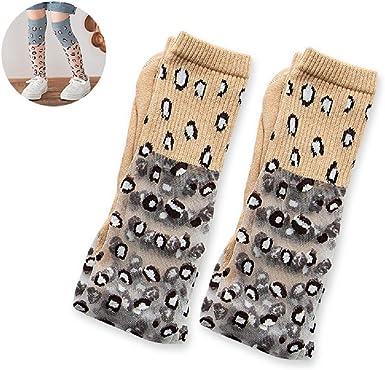 US Kids Girls Cute Breathable Leopard Knee Socks Soft Comfortable Mid Tube Socks