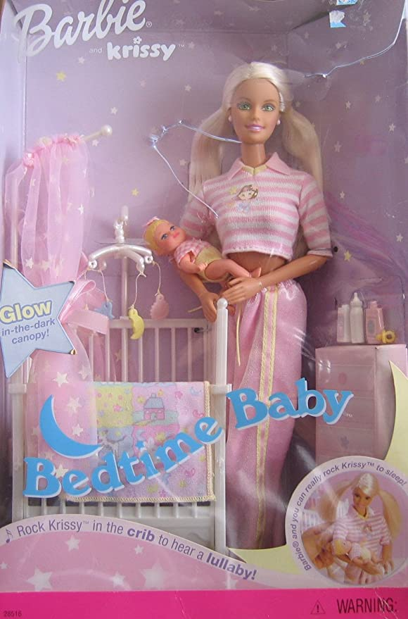Amazon.es: Barbie & Krissy - Bedtime Baby W/ Musical Crib ...
